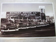 1953 PLYMOUTH  NEW CAR LINE UP AT DEALER   11 X 17  PHOTO  PICTURE