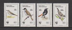 Turkish Cyprus - 1990, World Environment Day, WWF Birds set - MNH - SG 278/81