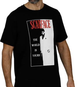 """SCARFACE - Tony Montana Men's T-Shirt """"The World is Yours"""" Official Licensed"""