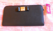 Lulu Guinness Large Black Bow Wallet Purse *new w/ tags*