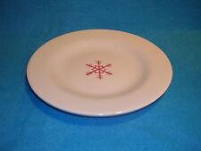 Pottery Barn Keepsake Snowflake Salad / Dessert Plate