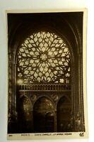 Paris France Sainte Chapelle La Grande Rosace Vintage Postcard