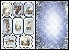 My Paper Stash Foiled Christmas Topper & A4 Backing Card - SNOWFALL - AC197