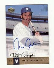 CHRIS CHAMBLISS 2004 UPPER DECK YANKEES CLASSICS SIGNED CARD AUTOGRAPH NEWYORK