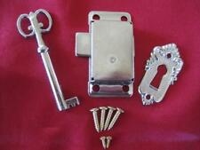 ANTIQUE SILVER LOOK CABINET LOCK SET - COMPLETE (LS01)