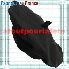 Beret Français noir (Amélie poulain-basque-Supporters-Conscrit)deguisement,Fête