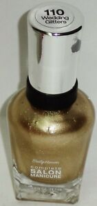 1 Sally Hansen Complete Salon Manicure Nail Polish WEDDING GLITTERS #110