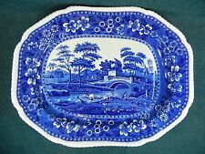 """Copeland Spode Blue Tower RARE 19 1/4"""" Serving Platter with Tree and Well"""