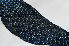 lot of 50 authentic Tilapia Fish Skins Hide Leather Craft Supply Blue Metallic