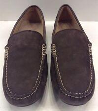 Polo Ralph Lauren Woodley Dark Brown Tumbled Nubuck Leather Men 9 $99 NIB New