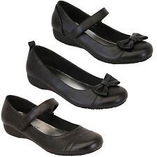 Girls Kids Slip On Flat Ballerina School Pumps Shoes Casual Bow Fashion