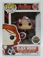 Funko Pop! Marvel Avengers #103 Gamestop Exc Black Widow + Protector DAMAGED BOX