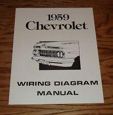 1959 Chevrolet Passenger Car Wiring Diagram Manual 59 Chevy