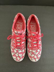 Vans Hello Kitty limited edition sneakers shoes skater pink size 10