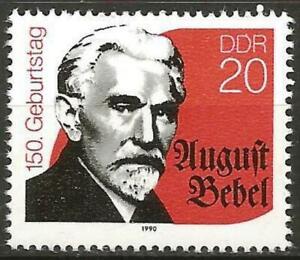 Germany (East) DDR GDR 1990 MNH 150th Birth Anniv Politician August Bebel #E3006