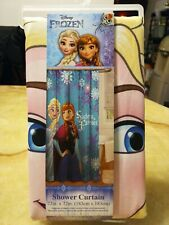 """Disney Frozen Fabric Shower Curtain Elsa Anna 72"""" x 72"""" SISTERS FOREVER ( NEW )"""