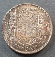 Canada - George VI, Silver 50 Cents, 1947, nicely toned