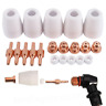 30pcs Air Plasma Cutter Cut Consumables Electrode Tip Kit For Torch PT-31 LG-40