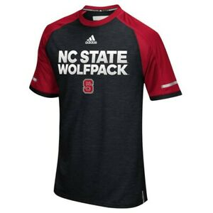 NC State Wolfpack NCAA Adidas Men's Black Climalite Performance Crew T-Shirt