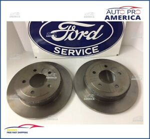 FORD OEM Rear Brake Rotors Pair for 96-02 Crown Victoria Town Car Grand Marquis