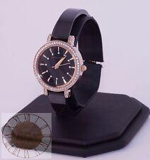 Women's Anne Klein Watch, Gold-Tone and Black Ceramic Watch AK-2180BKGB, New