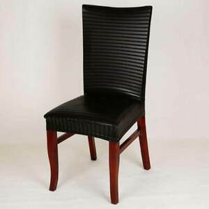 PU Leather Elastic Chair Cover Home Decor Dining Stretch Chair Cover Washable