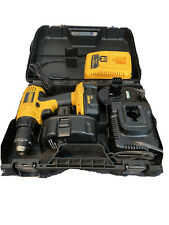 "DEWALT DC970 1/2"" 18V 2 Speed Cordless Drill/Driver With Hard Case, 3 Batteries"