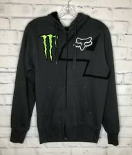 Fox Racing Monster #4 Ricky Carmichael Hoodie Sweatshirt Small Gray