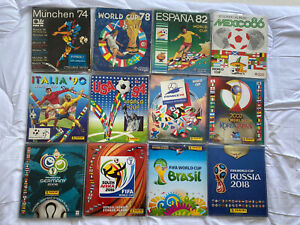 Panini World Cup Albums 1974 - 2018 All 100% Complete