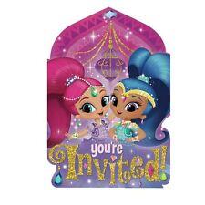 8pk Shimmer & Shine Postcard Invitations Childrens Birthday Party Stationary
