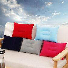 Travel Car Flocking Cushion Hiking Camping Rest Inflatable Air Pillow Square