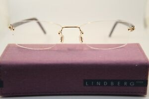 NEW Display Set LINDBERG Rimless Spirit Titanium T500 K115 51-18-135 Gold Brown
