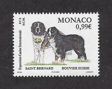 Art Portrait Postage Stamp BERNESE MOUNTAIN SAINT ST BERNARD DOG Monaco 2002 MNH