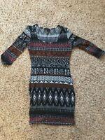 JR's Ambiance TribalPrint Light Sweater Tunic(SZ.S) Fitted GENTLY WORN