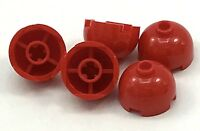 Lego 5 New Red Brick Round 2 x 2 Dome Top Hollow Stud Bottom Axle Holder Pieces