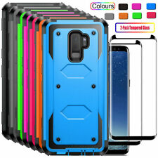 For Samsung Galaxy S9/S9 Plus Shockproof Case Cover with Glass Screen Protector
