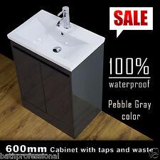 Pavimento in piedi bagno mobiletto lavabo lavandino Armadietto Gloss 600mm PG