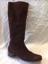Gorg Blau Brown Knee High Suede Boots Size 40