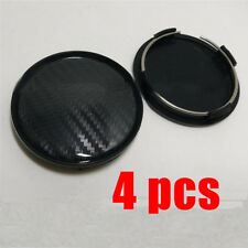 60mm/ 58mm Black Carbon fiber ABS Car Wheel Center Hub Caps Decorative cover Set