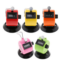 Hand Mechanical 4 Digit Tally Counter Clicker Number Counter, Easy to Use