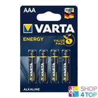 4 VARTA ENERGY ALKALINE AAA LR03 BATTERIES VALUE PACK MICRO EXP 2024 1.5V NEW