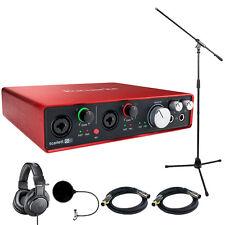Focusrite Scarlett 6i6 USB Audio Interface (2nd Gen) w/ Headphone Bundle