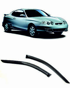 For Hyundai Tiburon RD 96-01 Window Visor Sun Rain Guard Vent Deflectors Shades