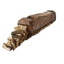 4'x18' Brown 3mil Woodpile Poly Tarp Mildew Tear & Water Resistant Long & Narrow