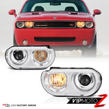 2008-2014 Dodge Challenger [FACTORY D1S MODEL] Chrome Front Headlights Assembly