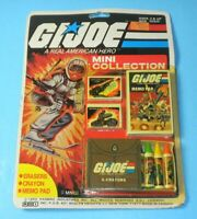 1983 GI Joe Mini Collection Crayon Eraser Memo Pad Snow Job MOC Sealed Card Back