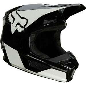 Fox Racing Adult Mens V1 REVN MX Motocross Off Road Helmet Black/White