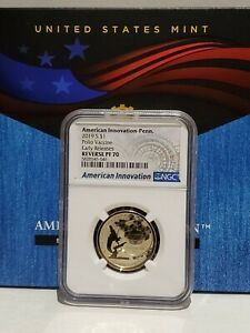 2019 S $1 NGC Reverse PF70 Pennsylvania Polio Vaccine American Innovation
