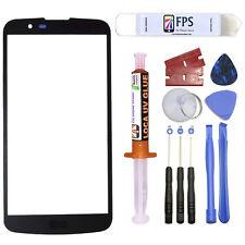 For LG K10 K425 MS428 Black Repair Outer Front Screen Glass Lens 5ml UV Loca Glu