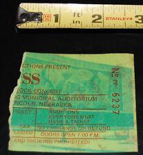 KISS vintage Band Concert Ticket Stub March 1976 Alive Tour Nebraska Aucoin Gene